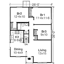 Plan of house Plain foot 3 bedrooms free