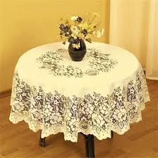 details about superb cream heavy lace round table cloth 50 x 70 oval fil