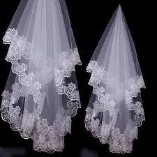 One Layer Lace Edge Wedding Veil Ivory Long Bridal Viel Wedding Events  Bridal Hair Accessories Headbands Gift|Bridal Veils| - AliExpress