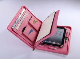iPad mini for Carrying Portfolio Wallet Case with Paper Writing Pad