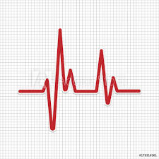 Fotografie Obraz Heartbeat Vector Icon Heartbeat Line Posterscz