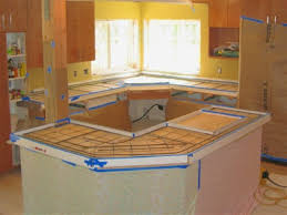 how concrete countertops fine stain poured place countertop