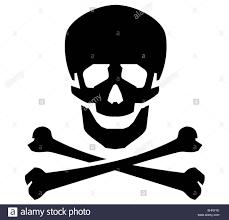 Radiation Logo Design Jolly Roger Vector Logo Design Template Human Skull Or