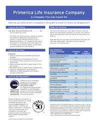 Primerica Life Insurance Company Datasheet
