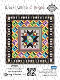 53 best Henry Glass: Latest Free Projects images on Pinterest ... & Black, White & Bright Quilt 1 by Color Principle Adamdwight.com