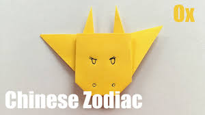 I will be celebrating with my family. Origami Ox Chinese Zodiac Animals Easy Paper Crafts Tutorial Youtube