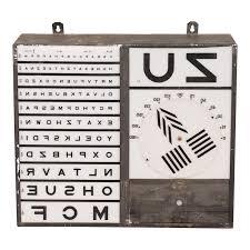 Vintage Eye Chart Light Box Eye Chart Box