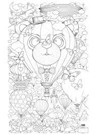 Balloons mean fun for kids. Hot Air Balloon Zen Anti Stress To Print Anti Stress Adult Coloring Pages