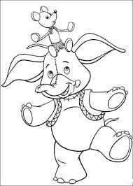 mr jumbo elephant and clockwork mouse coloring page