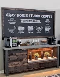 coffee bar. Black Pipe Coffee Bar DIY