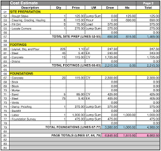 cost spreadsheet for building a house home construction cost estimate sheet download construction sheet