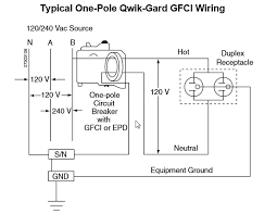 how does a qo gfi, hom gfi or chom gfi breaker work? Ground Fault Breaker Wiring Diagram Ground Fault Breaker Wiring Diagram #77 ground fault circuit breaker wiring diagram