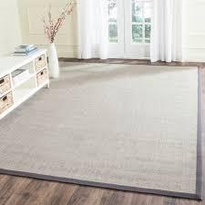 safavieh casual natural fiber marble and grey border sisal rug 8 x