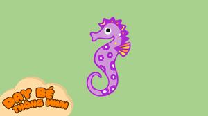 Bé tập vẽ tranh con vật   Hướng dẫn học vẽ con cá ngựa bằng bút chì   Dạy bé  thông minh - YouTube