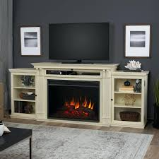antique white electric fireplace tv stand fresno in finish a console