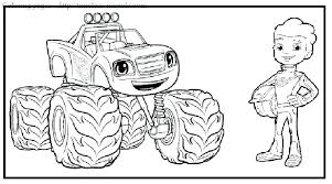 Blaze And The Monster Machine Coloring Pages To Print Blaze And The