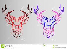 геометрический комплект олень эскиз татуировки олени градиента
