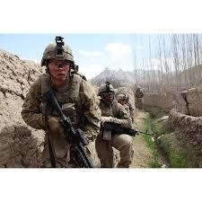 Us Army Platoon Us Army Platoon Moves In Behind Mud Walls Canvas Art Stocktrek Images 34 X 23