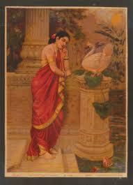<b>Hamsa</b> & Damayanti - Ravi Varma Press — Google Arts & Culture