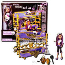 MONSTER HIGH FURNITURE CLAWDEEN WOLF ROOM TO HOWL BUNK BED PLAY