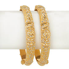 anjali jewellers gold wedding collection. anandini rhodium gold bangles anjali jewellers wedding collection