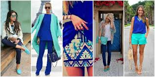Cobalt Blue and Turquoise. Color Combinations _ stylegods