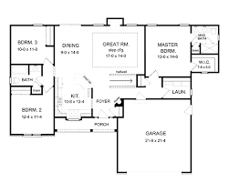 house plans with open floor plan. Simple One Story Floor Plans And With Basement On Open House Plan A