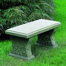 campania international snowdrop cast stone backless garden bench hayneedle