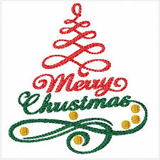 Christmas Swirls Merry Christmas Swirls A Machine Embroidery Design For Christmas