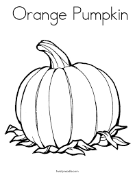 Small Picture Orange Pumpkin Coloring Page Twisty Noodle