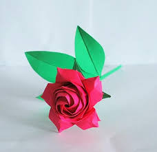 Paper Origami Flower Bouquet Origami Rose Rose Bouquet Paper Rose Wedding Flower Bouquet