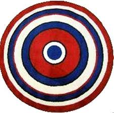amazing red white and blue area rugs for circle rug baby