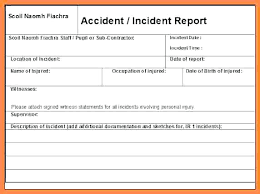 Construction Accident Report Template Combined With Construction ...
