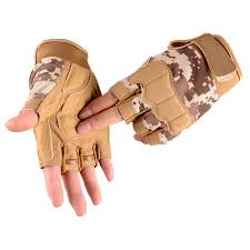 <b>Outdoor Tactical</b> Fingerless <b>Gloves Military Army</b> Shooting Hiking ...