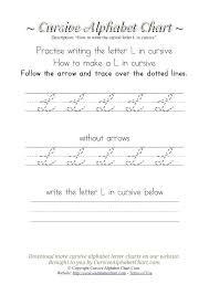 Capital And Lowercase Cursive Letters Chart Cursive Writing Capital Letters In Four Line