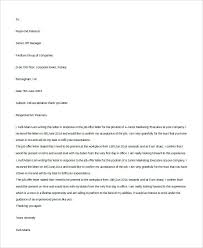 Job Offer Response Letter Sample Job Offer Acceptance Letter Reply Download Fer Sample For Free To An