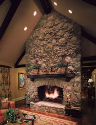 led recessed lighting for sloped ceiling above the fireplace