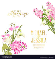 Flower Design For Marriage Spring Syringa Flowers Background For The Marriage