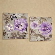 floral delight purple flower canvas wall art set on lavender colored wall art with 17 purple wall art decor chloe purple wall art nursery decor plum