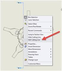 From time to time i am asked how to change the color of a specific component in a drawing view. Modifying A Section Line In A Solidworks Drawing Computer Aided Technology