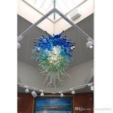 murano glass blown chandelier lightings shade color hanging lamp design large foyer restaurant lights girban brand ceiling pendants modern pendant light
