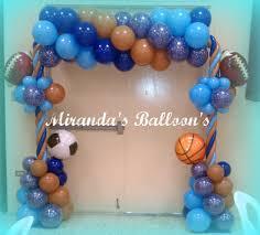 Sports Themed Balloon Decor Sports Theme Balloon Decor Globos Pinterest Sports Decor