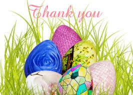 Thank You Easter Easter Egg Thank You Cards Zazzle Uk