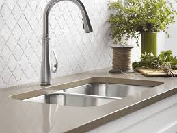 Kitchen Faucet  Awesome Brushed Nickel Faucet Kitchen Maintenance - Kitchen faucet ideas