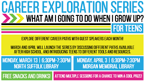 career exploration series for teens events in hampton roads explore different career paths guest speakers each month and will launch the series smithfield high school s guidance counselor to