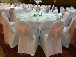 furniture white wedding chair covers marvelous white chair covers with pale pink organza sashes at a