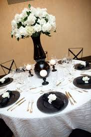 Excellent Black And White Wedding Table Settings 79 In Wedding Table Ideas  with Black And White Wedding Table Settings