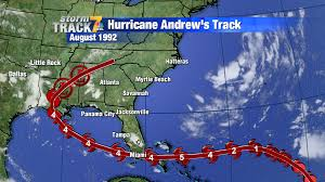 Hurricane Andrew Path Hurricanes For Track Record