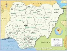administrative map of nigeria  nations online project