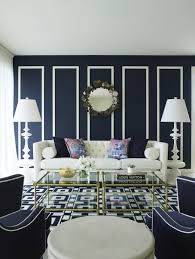 20 Appealing Living Rooms With Gold And Navy Accents  Home Design Navy And White Living Room